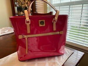 Dooney & Bourke Patent Collection Domed Zip Satchel Bag