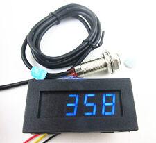 Digital Blue LED Tachometer RPM Speed Meter + Hall Proximity Switch Sensor NPN