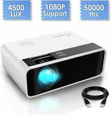 ELEPHAS LED Mini Projector 1080p Support HD 4500 Lux Home Theatre PS4 Xbox PC