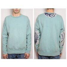 G Star Marc Newson Crew Sweatshirt Recycle Elbow Mint Green Size L