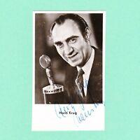 Autogramm Hans Krug signiert