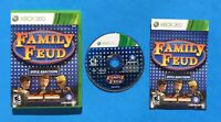 FAMILY FEUD Microsoft XBOX 360 COMPLETE Video Game Disc Case Manual