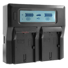 Fast Quick LCD Battery Charger for Canon LP-E6 LP-E6N EOS 6D 7D 70D 80D 5D Mark4
