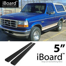 "iBoard Running Board Black 5"" Fit Ford Bronco/F150 Regular Cab 80-96"