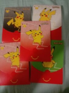 (X5)2021McDONALD'S Pokemon Cards Trading Card Game Booster#1-4 Happy Meal Toy