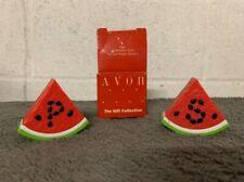 Vintage Avon Watermelon Slices Salt & Pepper Shakers with Original Box