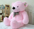 Gift Bow Stuffed Giant 95CM Pink Plush Teddy Bear Huge Hot 100% Cotton Doll New