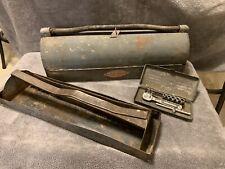Craftsman Vintage Tool Box w/Tray & Metal Case, w/ 1/4 Inch Rachet & Sockets.
