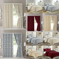 Quilted Jacquard Bedspread Comforter Set Bed Throw OR Eyelet Ring Top Curtains