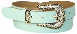FRONHOFER Western women's belt, sparkling rhinestone buckle, country belt