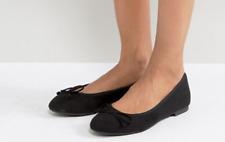 Brand New ASOS Women's LIBRA Elegant Black Ballet Flats For Work / Casual - UK 7