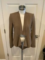 "BCBG Max Azria ""Candice"" Light Brown High-Low Open Front Jacket, Size Small"