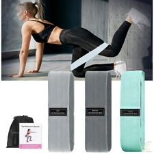 New listing Exercise Resistance Bands Fabric Sports Loop Band Set Workout Fitness Gym Yoga