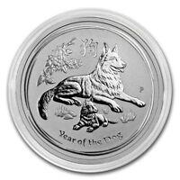 Australien Lunar Jahr des Hund Hundes 0,5 oz 999 Silber Silbermünze in Kapsel