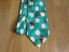 Disney MICKEY Mouse Green with White Dots Cartoon Character Image Tie