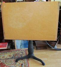 Vtg Antique Industrial Cast Iron Art Drafting Drawing Adjustable Desk Table J187