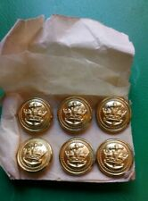 MERCHANT NAVY ALL METAL UNIFORM BUTTONS AS USED IN WW11 16 mm  NEW ON CARD No54