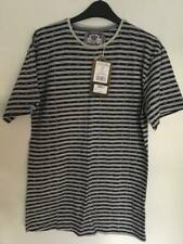 Cargo Bay Legacy Men's Stripe Print T-shirt - Blue - Medium