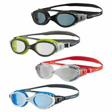 Speedo Futura Biofuse Flexiseal Goggles in Black / Smoke with Wide Vision Lenses