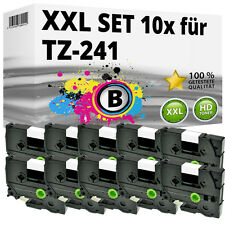10x Farbband kompatibel Brother P-Touch PT E100 1010 1230 H100R H300 D200 TZ-241