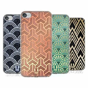 HEAD CASE TEXTURED ART DECO PATTERNS GEL CASE & WALLPAPER FOR iPOD TOUCH MP3