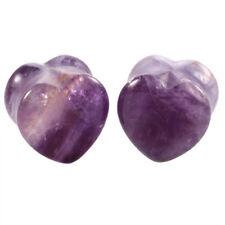 Pair Natural Stone Cute Heart Shape Ear Plugs Flesh Ear Gauges 6mm-16mm Piercing