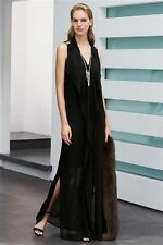 Next Black Ruffle Front Maxi Dress (Tall) 16