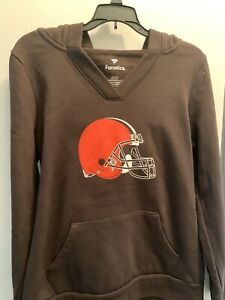 Cleveland Browns Womens Hooded Sweatshirt NWT Small Official NFL Fanatics
