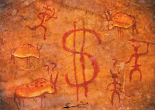 Kunstkarte: Höhlenmalerei / Cave painting / possibly associated with Banksy