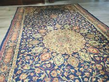 More details for large vintage/antique rug - turkish, afgan, european, belgian - shades of blue