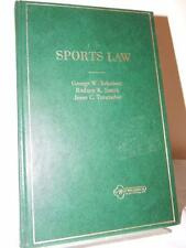 SPORTS LAW Schubert Smith Trentadue American Casebook Series 1986 HC Nutshell