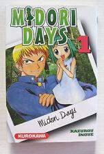 MANGA MIDORI DAYS N° 1 KAZUROU INOUE EDITION FRANCAISE KUROKAWA