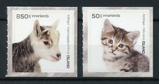 Iceland 2017 MNH Young Domestic Animals Goats Cats Kittens 2v Set Pets Stamps