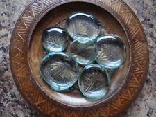 *AQUA AURA OBSIDIAN* Pocket Worry PALM Coin Stone (1) Gemstone Metaphysical