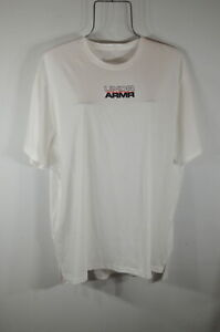 Under Armour Women's T-shirt XL Loose fit Front Logo White NWT