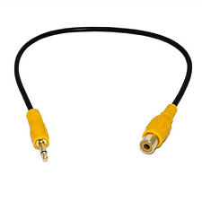 30cm 3.5mm 1/8 inch Mono Male Plug to RCA Female Jack Audio Cable Cord Adapter