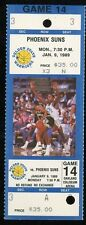 Ticket Basketball Golden State Warriors 1988 - 89 1/9 Phoenix Suns Full