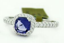 GENUINE IOLITE & WHITE SAPPHIRE RING .925 Sterling Silver NEW WITH TAG  size 6