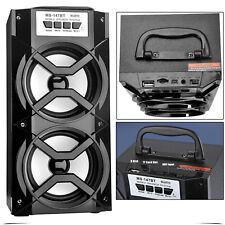 Portable Wireless Bluetooth Dual Speakers Stereo Super Bass USB/TF/AUX/FM Radio