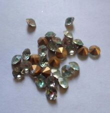 30 x Vintage Swarovski Rainbow Crystal Chaton SS20 - Gold Foil Lined
