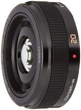 Panasonic LUMIX G 20mm f/1.7 II ASPH. H-H020A-K Lens Black Japan EMS w/ Tracking
