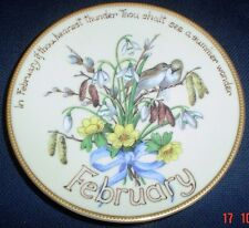 Davenport Limited Edition FEBRUARY Collectors Plate Edith Holden