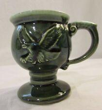 Vintage McCoy GREEN Drip Tiara Pottery Eagle Pedestal Mug