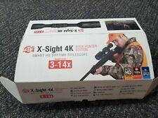 New listing Atn X-Sight 4K Buck Hunter 3-14x Smart Hd Daytime Riflescope - Dgwsxs3144Kb