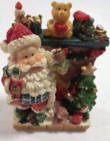Santa Mantel Figurine Table Top Display Christmas Ornament Holiday Home Decor