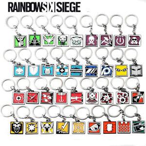 Rainbow Six Keychain Siege 6 Key Ring Holder Fashion Car Chaveiro Game Key Chain