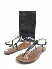 Sam Edelman Gigi Women's Brown Black Thong Summer Sandals US 9 M Shoes B879