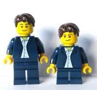 LEGO 2 Wedding Minifigure Figure  Blue Suit Groom Best Man Usher Pageboy