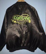 Vintage Cortland Fly Fishing Black Quilted Jacket Logo Westark USA Promo