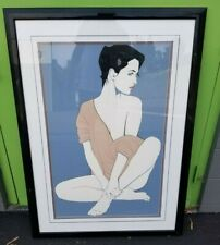 Large Framed Patrick Nagel Lithograph NC 4 Mirage Edition